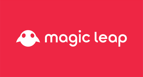 Magic Leap Horizontal Lockup - White on Mission Red