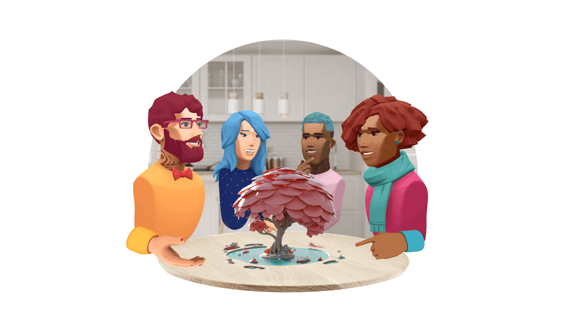 Connect with friends with Avatar Chat