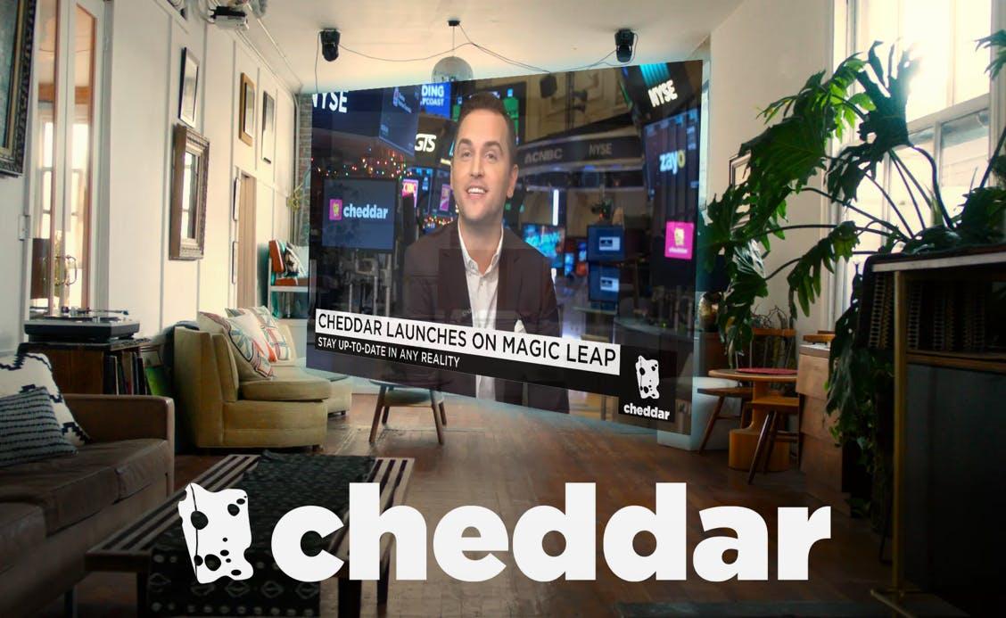 Cheddar, a Magic Leap One app