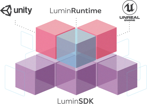3D opaque illustration of pastel purple, blue and pink cubes